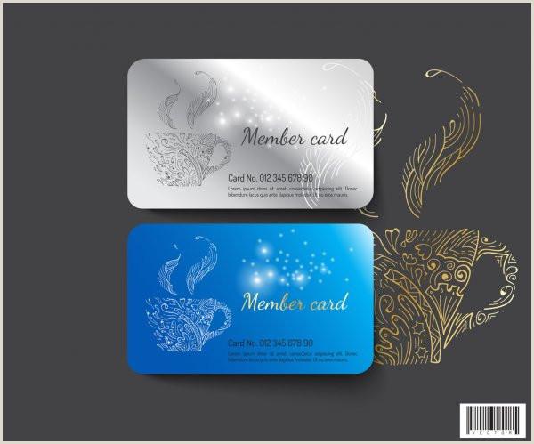 Contact Cards Template Template Design Member Card Vector File — Stock Vector