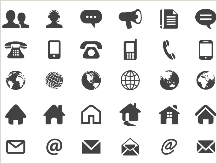 Contact Icons For Business Cards 7 Contact Card Icon Contact Icons Vector Free