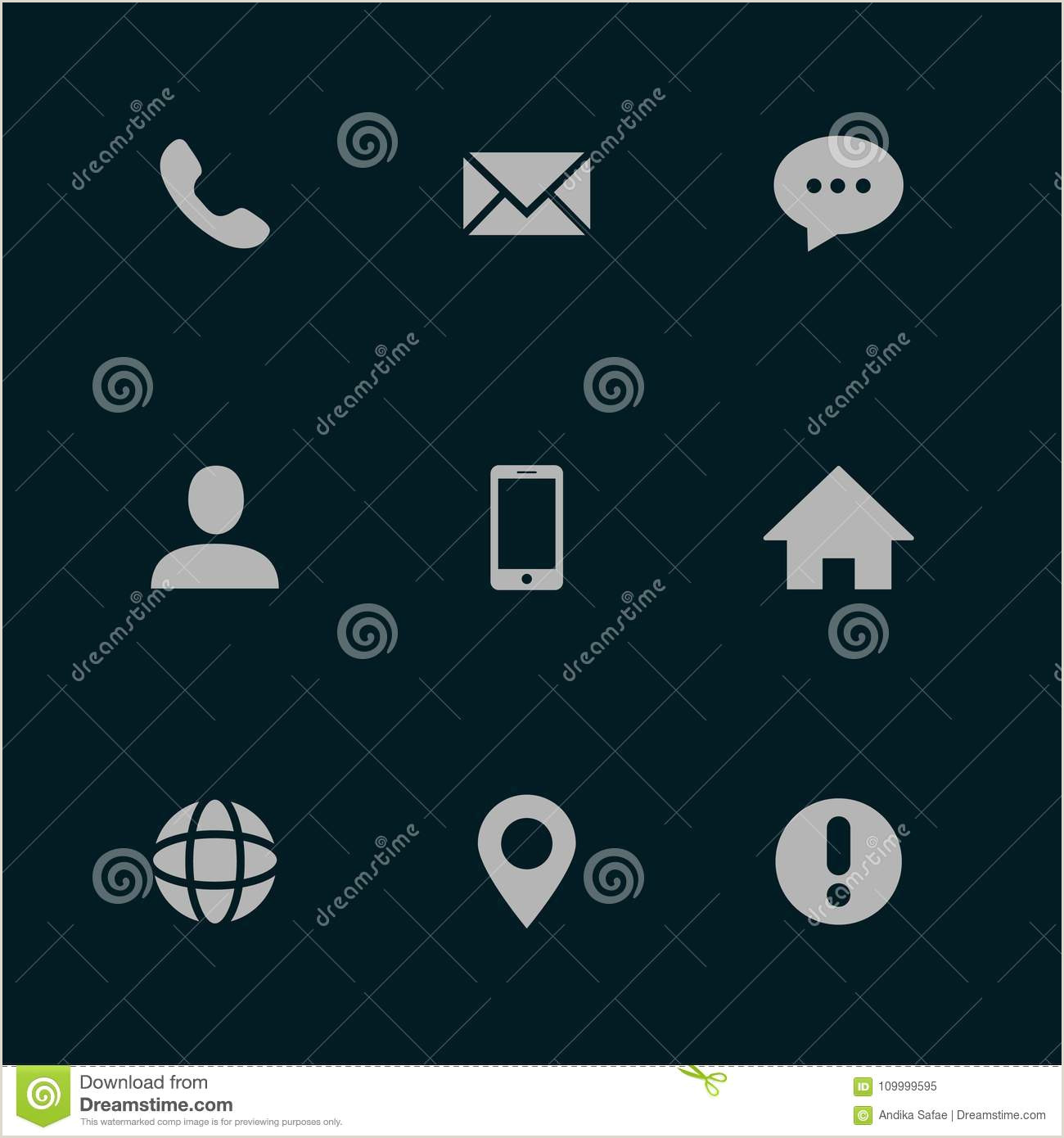 Contact Icons For Business Cards Business Card Contact Icons Stock Illustrations – 4 046