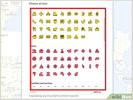 Contact Icons For Business Cards How To Add Icons To Google Maps 9 Steps With