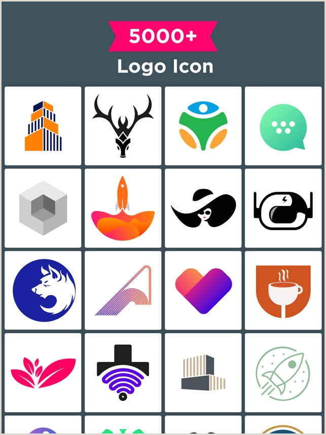 Contact Icons For Business Cards Logo Maker Design Monogram On The App Store