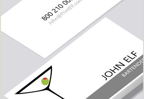 Contemporary Business Cards Modern Contemporary Business Card Design Bartender Business