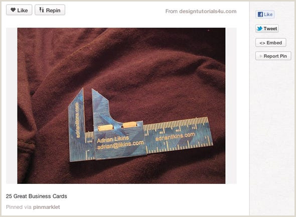 Cool Buisness Cards 12 Cool Business Cards We Found Pinterest Business Insider