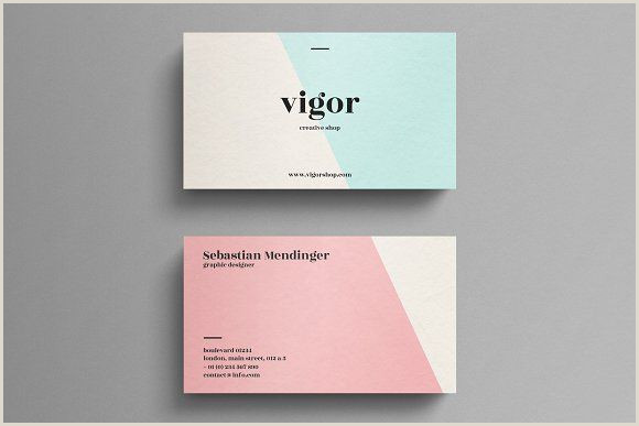 Cool Business Cards Ideas Minimal Business Card Template