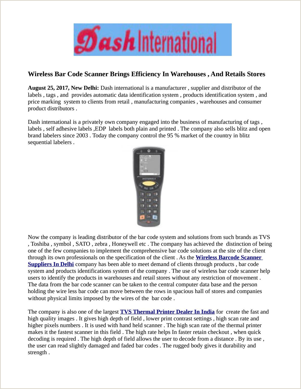 Cool Business To Start Wireless Bar Code Scanner Brings Efficiency In Warehouses