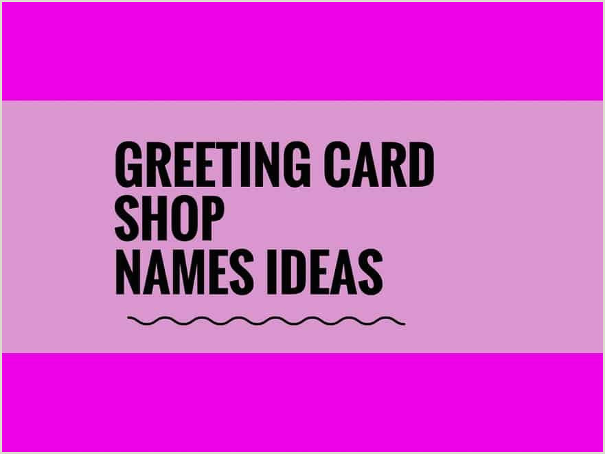 Cool Name Card 465 Catchy Business Postcard Shop Names Video Infographic