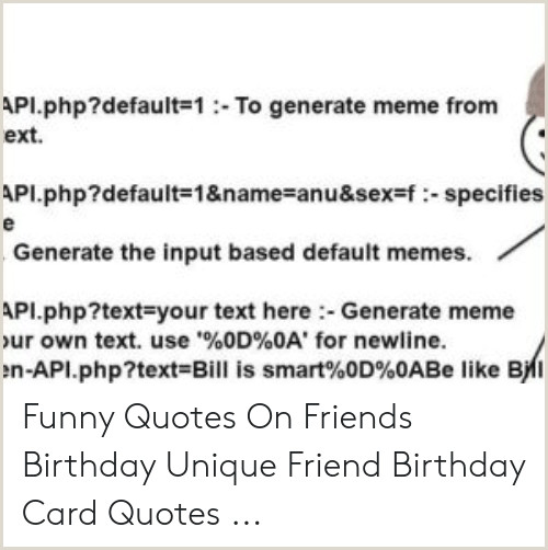 Cool Name Card Api Default 1to Generate Meme From Ext Api Default=1&
