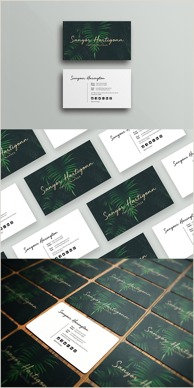 Cool Photographer Business Cards 40 Graphy Business Card Templates