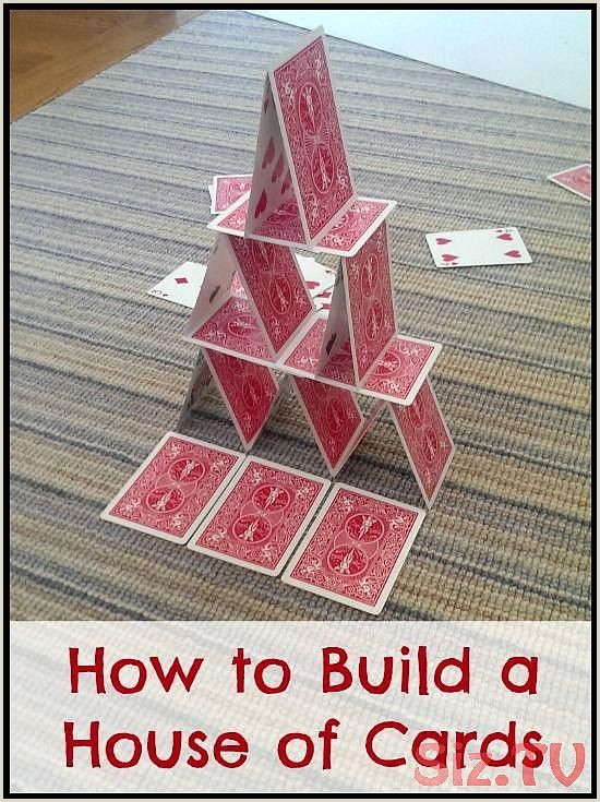 Cool Things To Do With Cards Building A House Of Cards Is Challenging And Fun And The