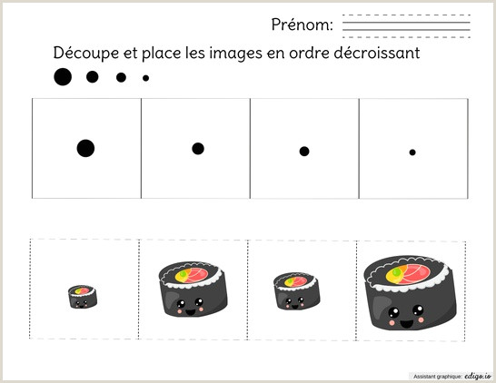 Cool Things To Do With Cards Ordre Décroissant Les Sushis Preschool Kindergarten