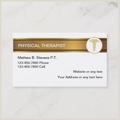 Cool Things To Put On The Back Of Your Business Card 200 Best Physical Therapist Business Cards Images In 2020