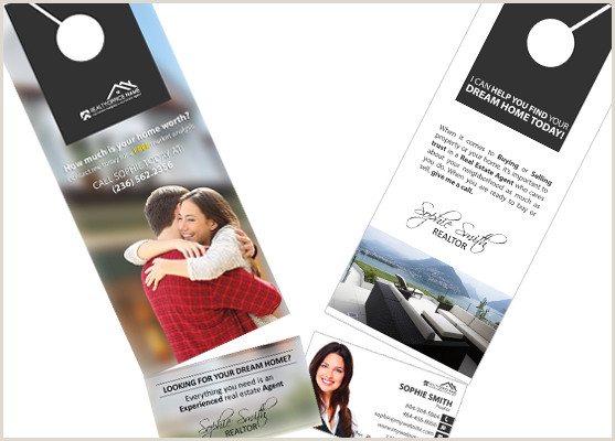 Cool Unique Business Cards For Realtores Real Estate Door Hanger Rip Cards