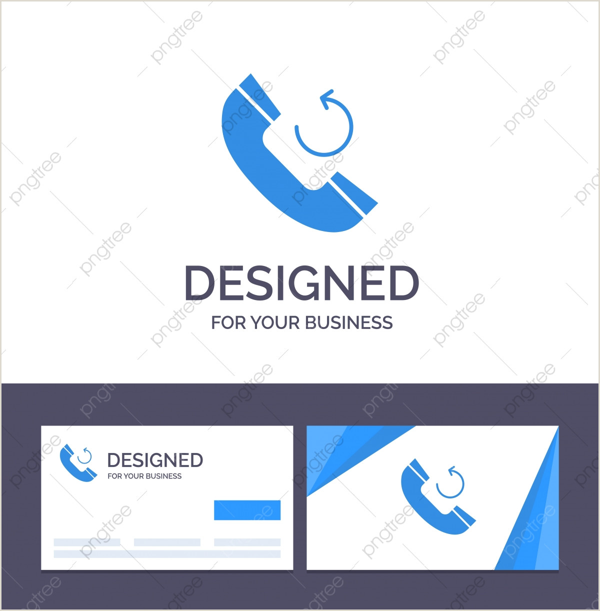 Corporate Calling Card Creative Business Card And Logo Template Call Phone Callback