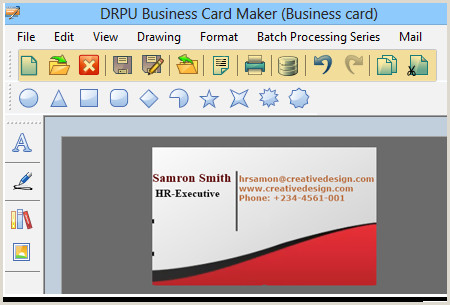 Create A Business Card Business Cards Designer Software Professional Visiting