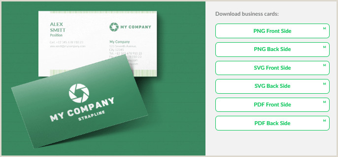 Create A Business Card Logaster