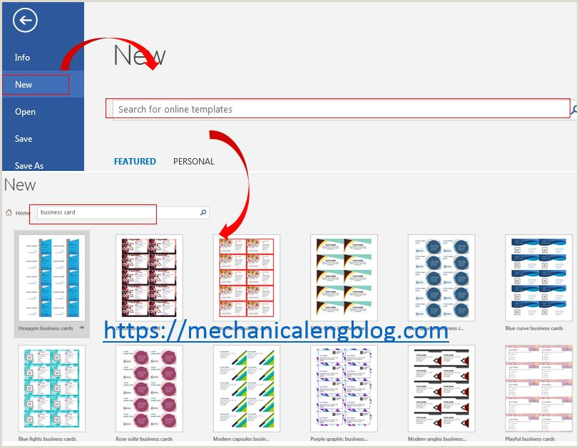 Create Business Cards In Word Create A Business Card In Word Office Mechanicalengblog