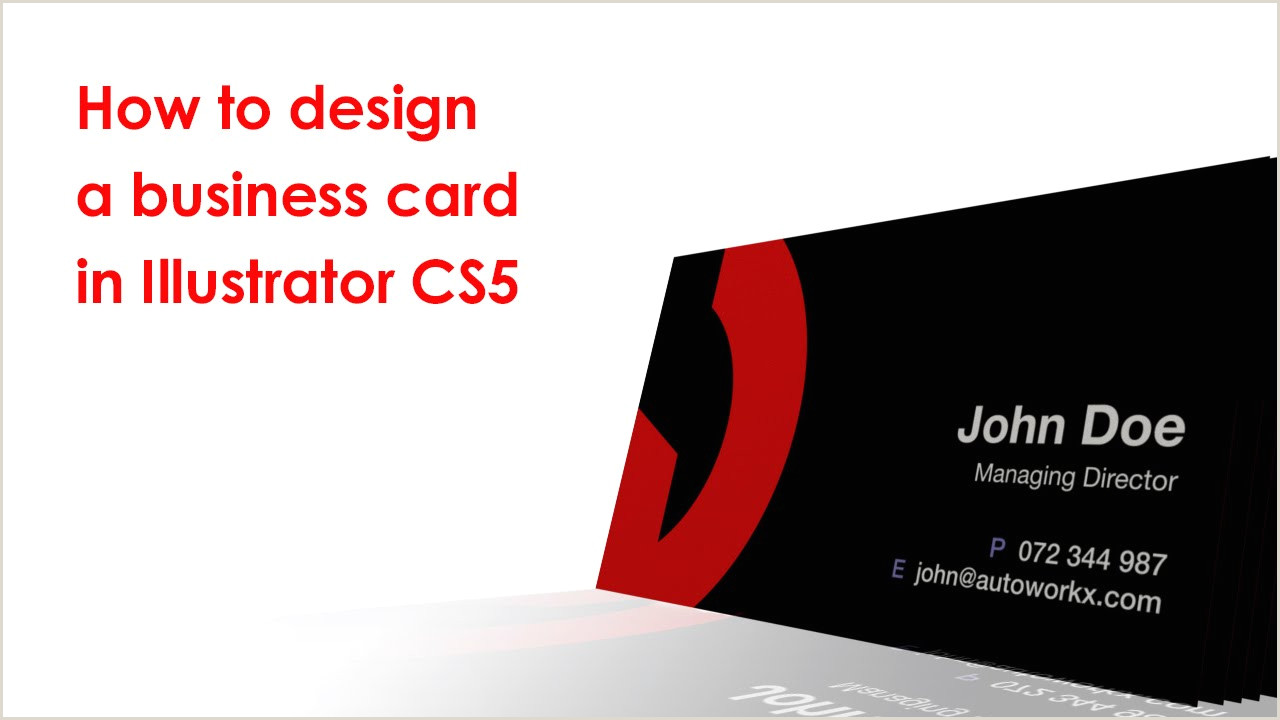 Creating Business Cards In Illustrator How To Design A Business Card In Illustrator