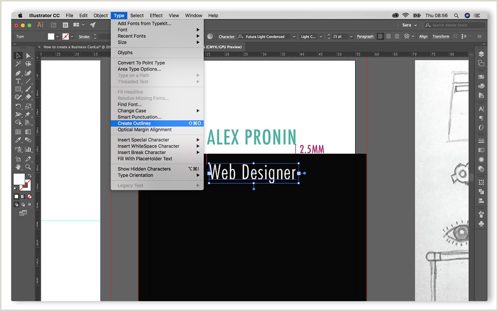 Creating Business Cards In Illustrator Step By Step Guide On How To Create A Business Card In Adobe