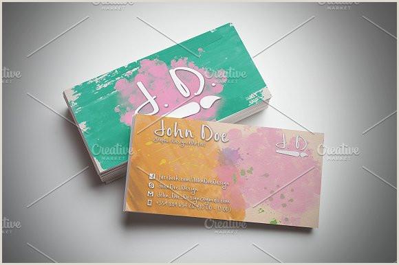 Creative Artist Business Cards Artistic Business Card