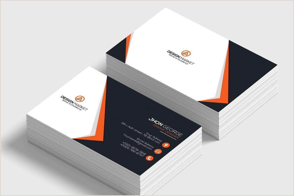 Creative Business Card Design Business Card Template In 2020