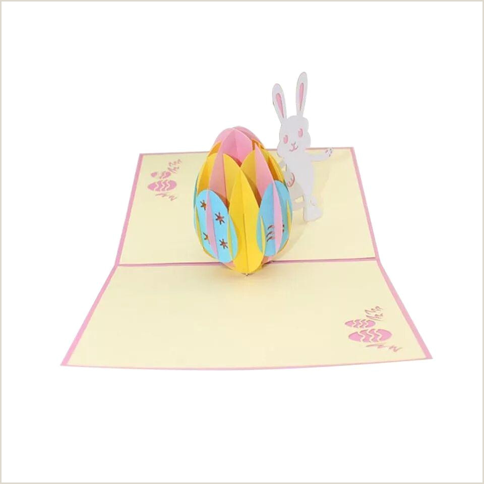 Creative Card Designs Hot 3d Pop Up Handmade Laser Cut Paper Cards Easter Egg Design Easter Bunny Rabbit Greeting Cards For Creative Gift P20 Shopping Gift Cards Shop Gift
