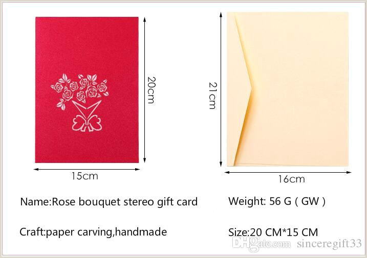 Creative Makeup Business Cards 3d Rose Bouquet Valentines Day Stereo Greeting Card Birthday Blessing Creative Paper Carving Hollow Gift Small Card Send Gift Card Line Purchase