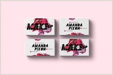 Creative Makeup Business Cards 40 Makeup Artist Business Card Templates Free Psd Designs