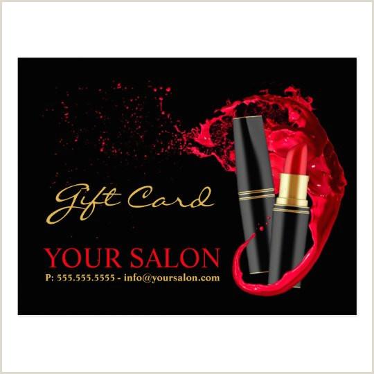Creative Makeup Business Cards Makeup Artist Certificate Template