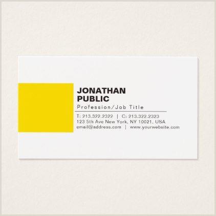 Creative Makeup Business Cards Professional Elegant Creative White Yellow Plain Business