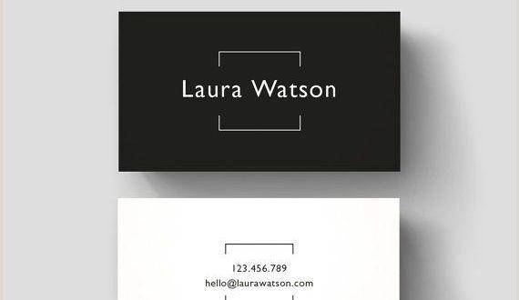 Creative Name Card Minimalistic Business Card Premade Design Black & White