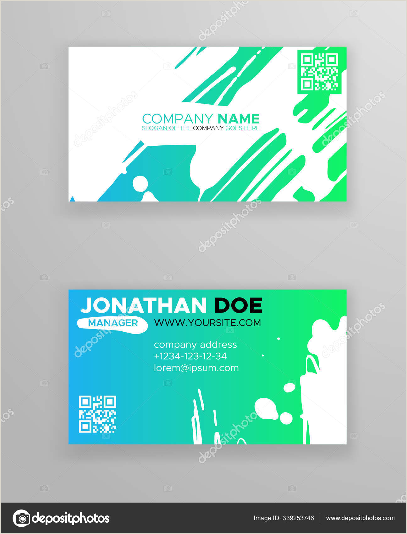 Creative Unique Painting Business Cards Creative Color Business Card Templates With Minimalistic Design Abstract Ink Brush Strokes