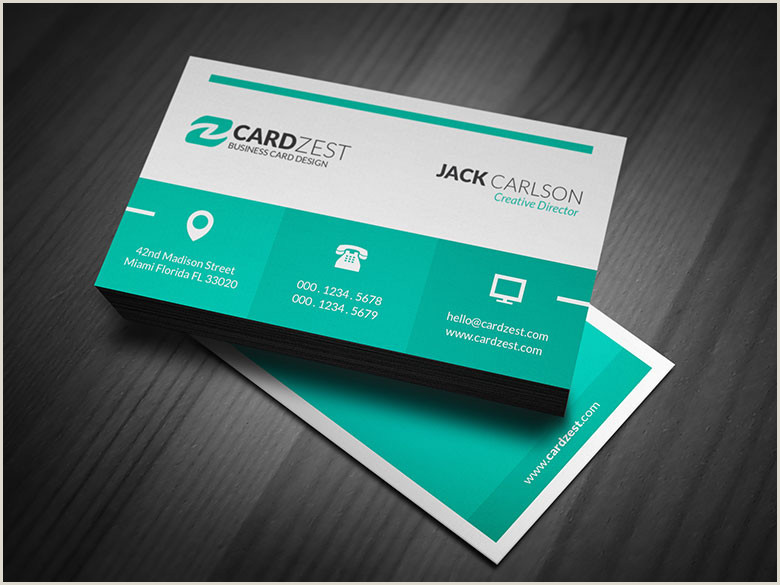 Credit Card Style Business Cards Free Business Card Templates Cardzest