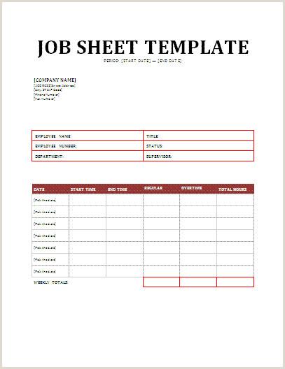 Customer Info Card Template Electrical Job Sheet Template