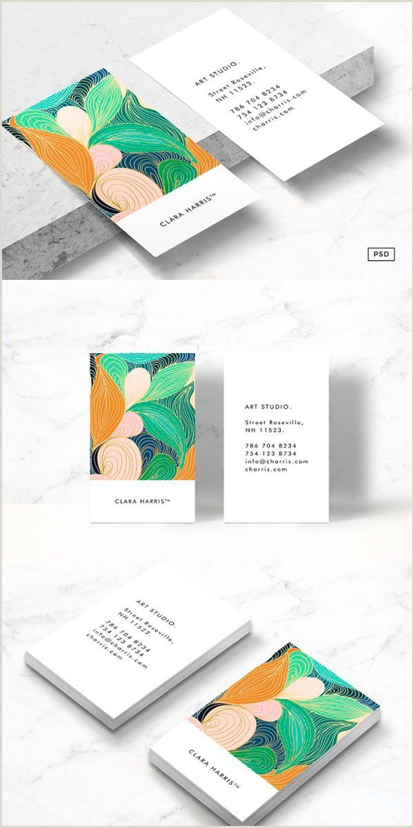 Cute Business Card Designs Swirly Art Business Card Tmeplate