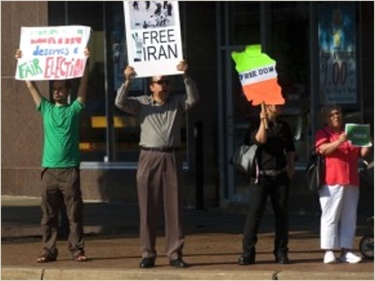 Cute Business Card Stand Rally In Lincoln In Support Of Iranian Protesters