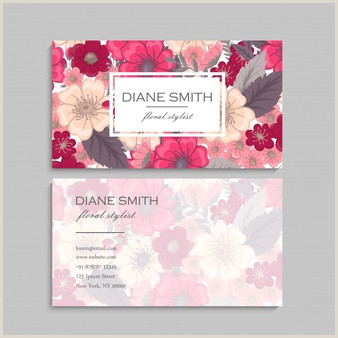 Cute Business Cards Free Vector