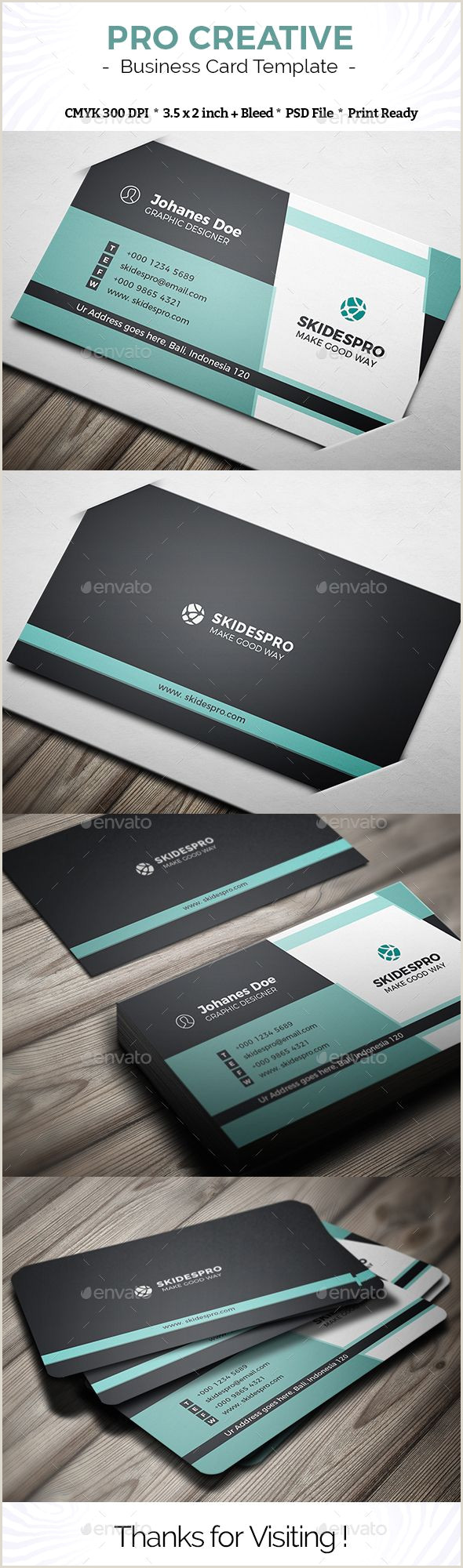 Cute Business Cards Pro Creative Business Card Template Psd