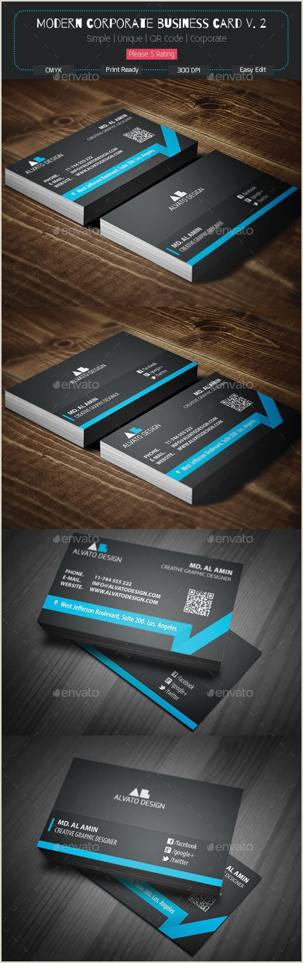 Design And Print Business Cards Modern Corporate Business Card V 2