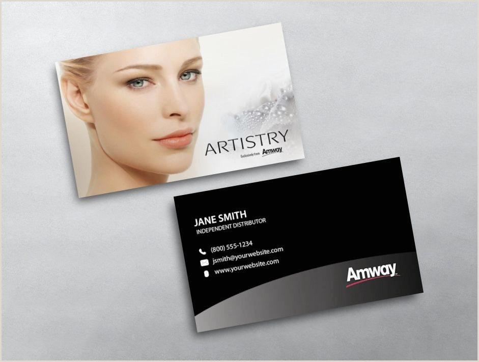 Design And Print Your Own Business Cards Amway Business Card 06 In 2020