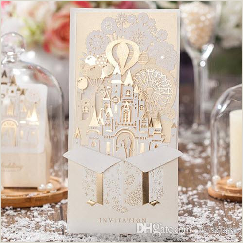 Design Your Own Business Cards Gold White 3d Shiny Love Castle Wedding Invitations Cards