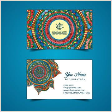 Designation On Business Cards Watercolor Floral Visiting Card Template In 2020