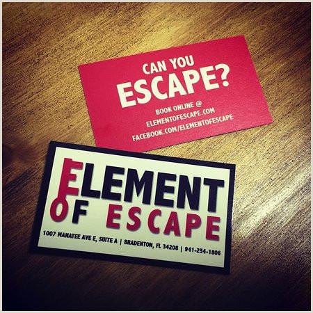 Designer Business Cards Business Cards Picture Of Element Of Escape Bradenton