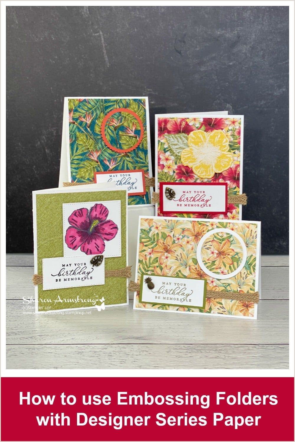 Designer Paper For Card Making Let Me Show You How To Emboss Scrapbook Paper And Designer
