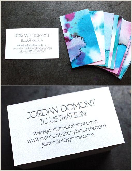 Diy Unique Business Cards Unique Diy Watercolour And Letterpress Printed Business