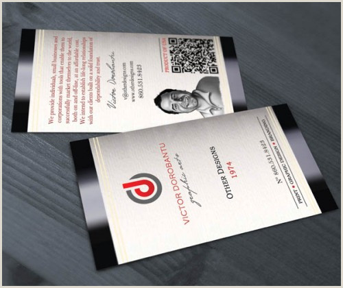 Example Of A Business Card 50 Best Examples Qr Code In Business Card