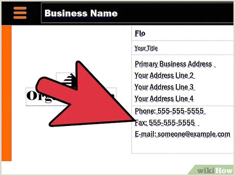 Example Of Business Cards 3 Ways To Make A Business Card Wikihow