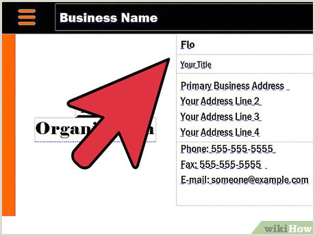 Examples Of Business Cards 3 Ways To Make A Business Card Wikihow