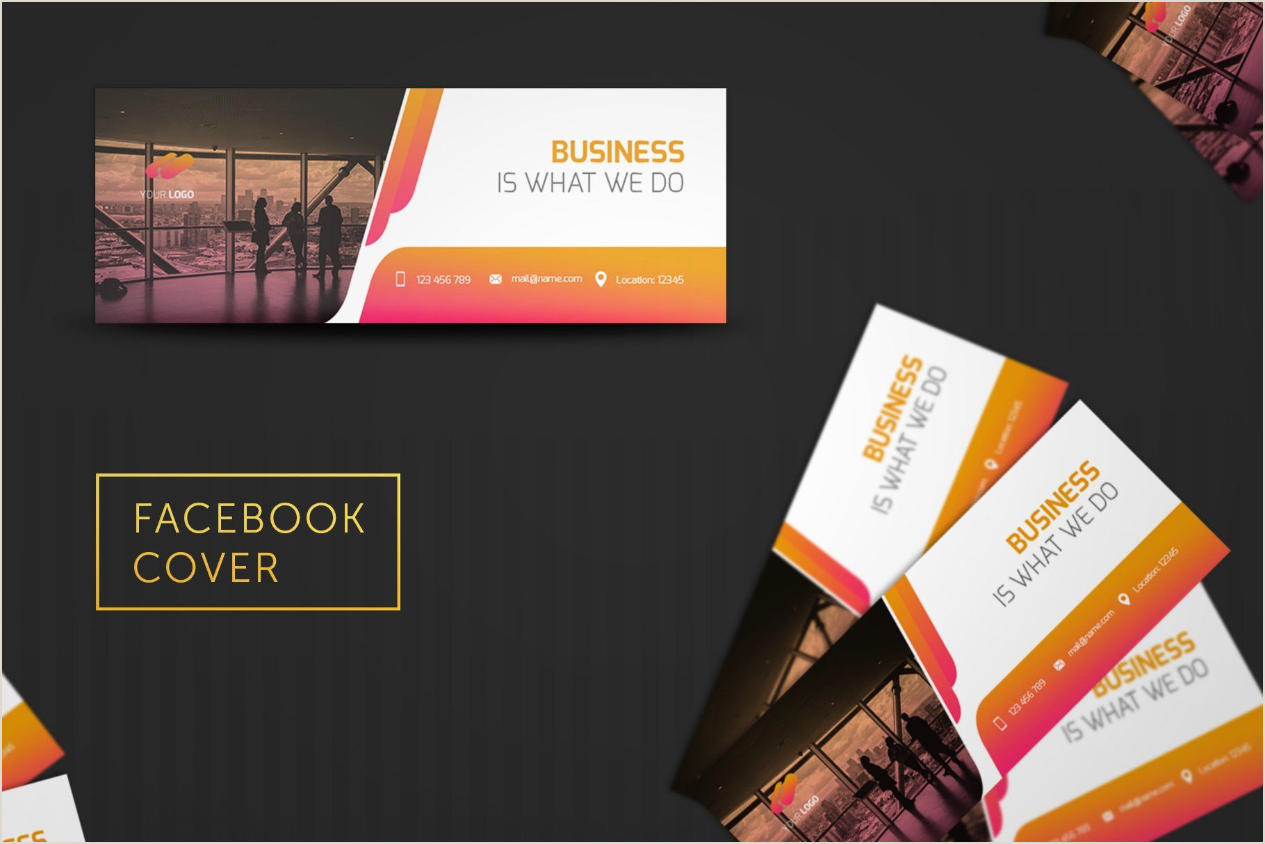 Facebook Logos For Business Cards Pin On Design Templates
