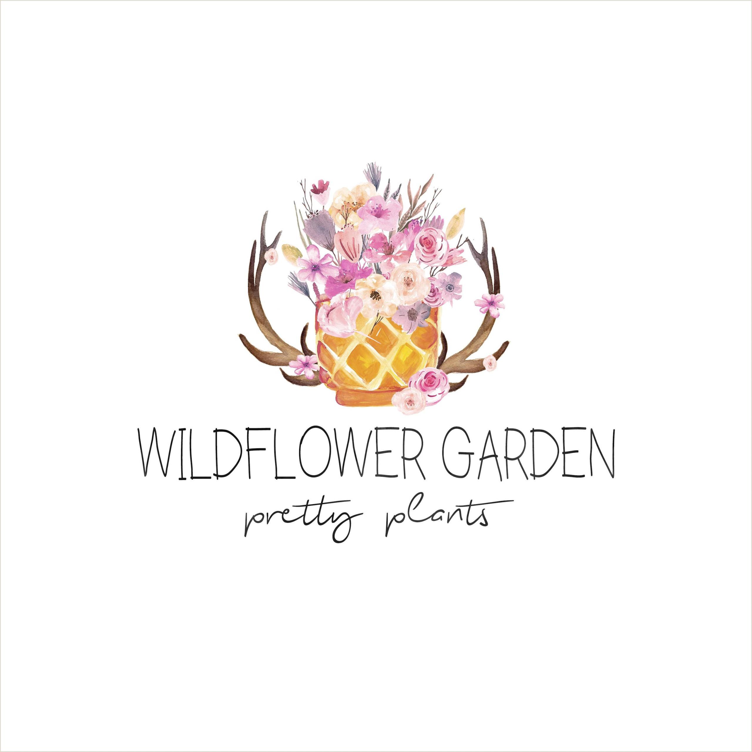 Facebook Logos For Business Cards Wildflower Garden Boutique Logo Graphy Logo Premade