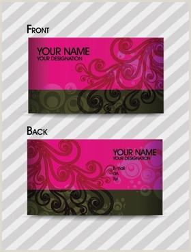 Fashion Business Card Ideas Fashion Design Business Card Free Vector 28 899